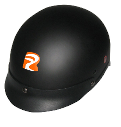 Carbon half face helmet, leather padding and lining, ECE/DOT certificate