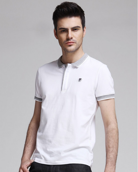 Custom cotton plain dyed mens t-shirts polo wholesale china