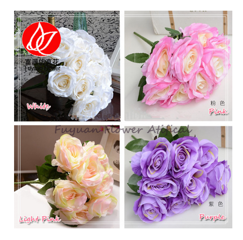 140820 New style hot-sale cheap wholesale rose wedding brooch bouquet multi-colored wedding artificial flower rose