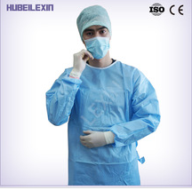 Disposable hospital surgical gown