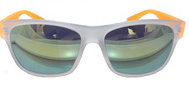Clear wayfarer eyewear mirror lens sunglasses