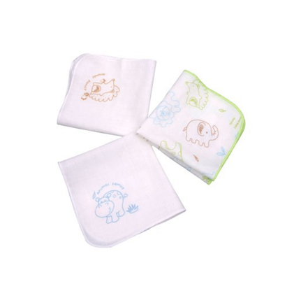 baby gauze face towel ,100% cotton handkerchief pure baby medical antibacterial hankerchief
