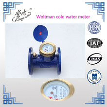 Cast iron flange end turbine type industrial water meter for shower head