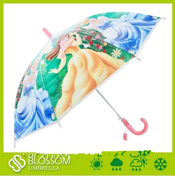 Auto open cartoon design Kids Umbrella fancy princess cartoon