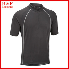 Blank cycling jersey black sports t-shirt for man