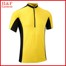 OEM polyester custom branded sportswear yellow cycling jersey clothing