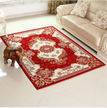 Luxury European Pastoral Style slip-resistant Children Kilim Carpet Machine Washable Carpet