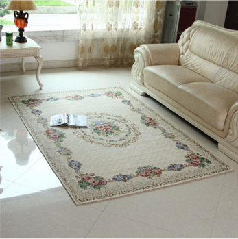 European Pastoral Style slip-resistant Rugs and Carpets Living Room Machine Washable Carpet