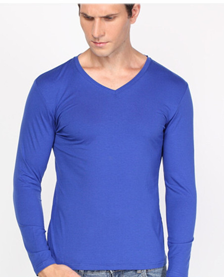 Wholesale new design 100% combed cotton long sleeve t-shirts o neck printing for promotion