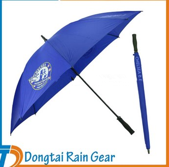 30 inch*8ribs blue golf umbrella with logo