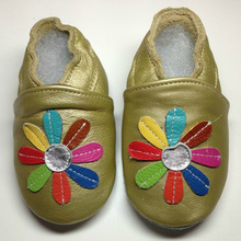 2014 new fashion pink leopard fabric Petal patterns Cheap Baby Leather Shoes newborn baby shoes