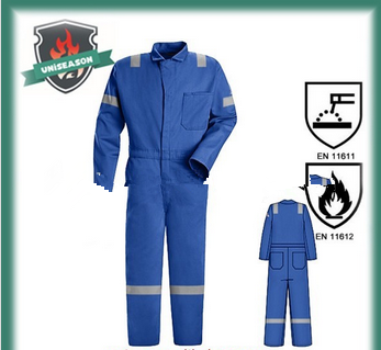 Cotton fire resistant coverall for work