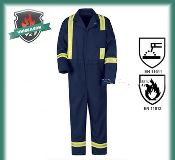 Black acid resistant coverall