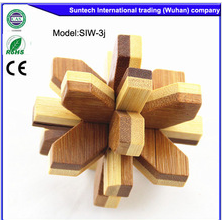 2015 hot sale eco-friendly non-toxic wooden puzzles brain teasers,puzzle game