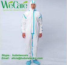 Disposable Non woven Coveralls Ebola protective suit - taped seam coverall