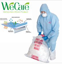Disposable Non woven SMS Blue Coverall