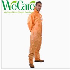 Disposable Non woven Orange Work Coverall