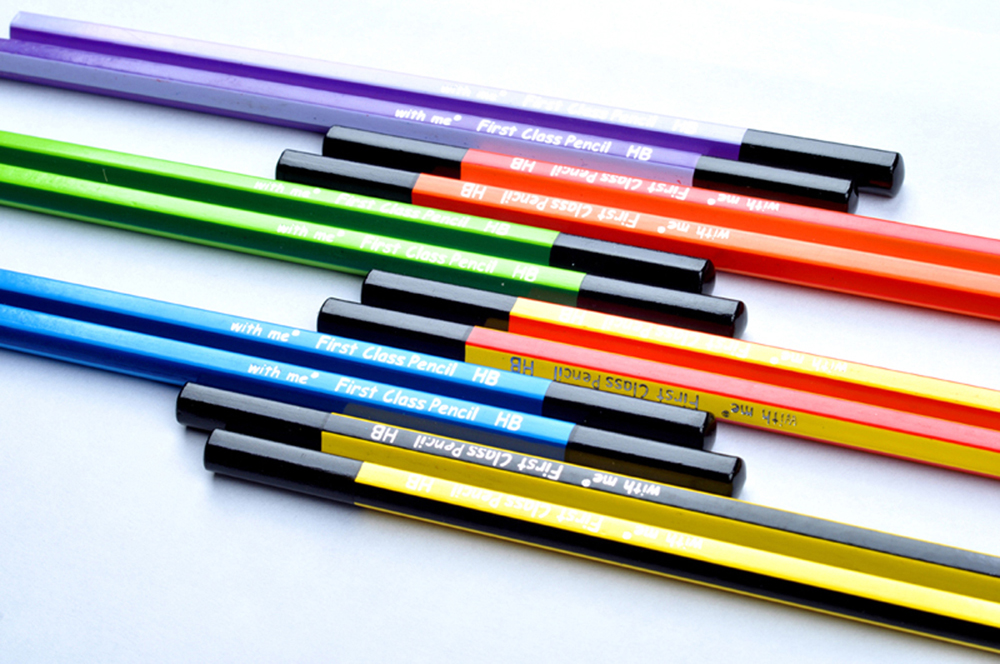 HB striped pencil with dipped end