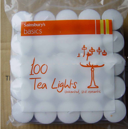 white tealights