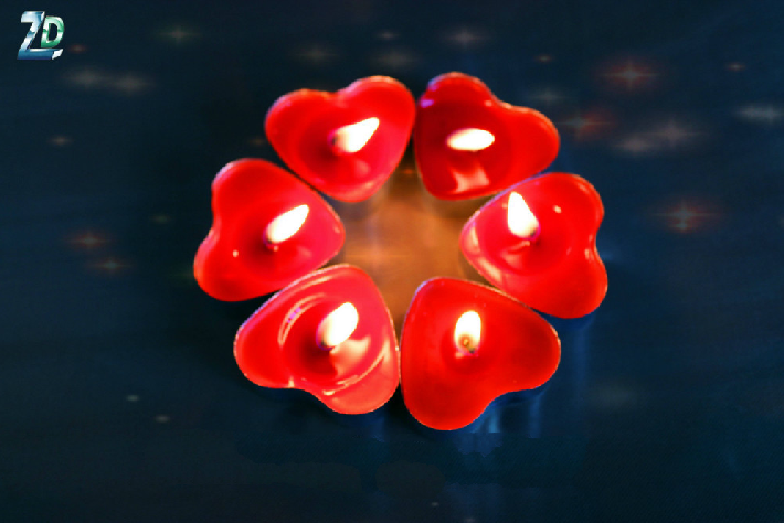 Heart Candle Tea Light Candles for Wedding