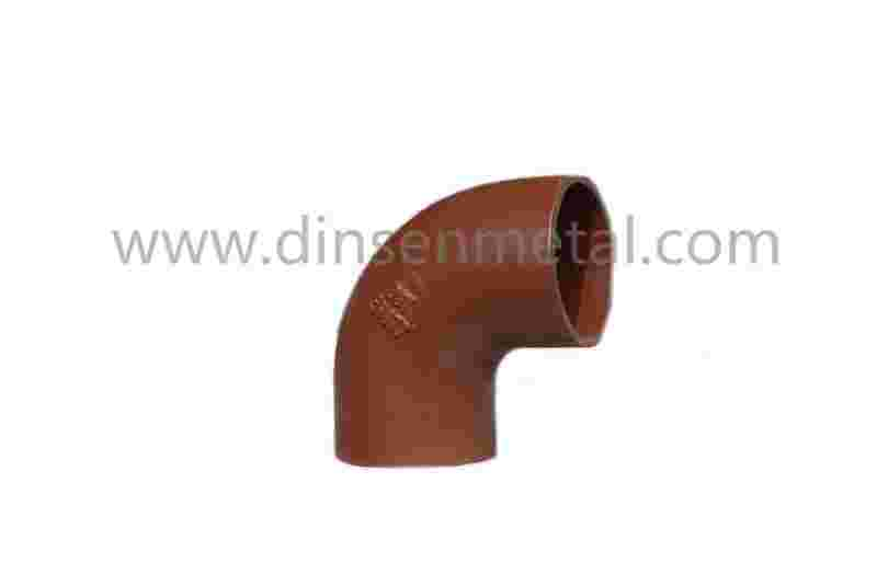 Red epoxy coated grey cast iron pipe fittings