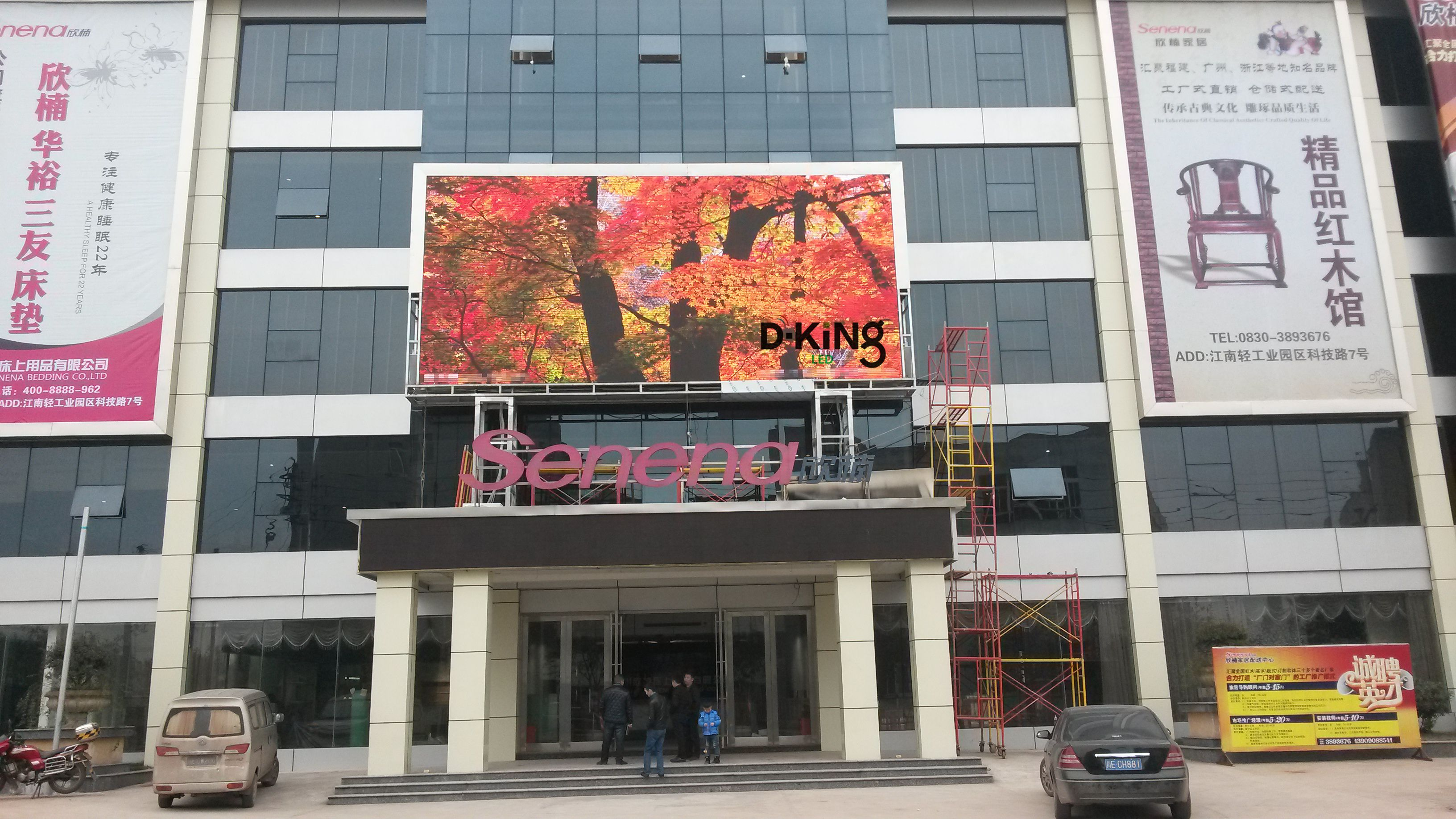 PH16mm Commercial Advertising Led Display for Shopping Mall and Hotel