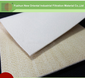 Environment protection Nomex needled filter felt