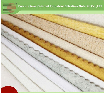 Environment protection Nomex needled filter felt
