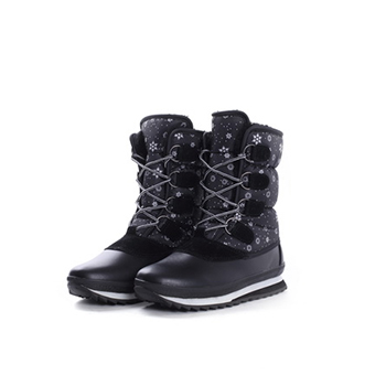 2015 Hot sales fashion nylon fabric+PU winter boots