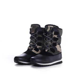 2015 Hot sales fashion nylon fabric+PU winter boots