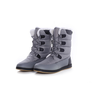 2015 fashion nylon fabric+ PU winter boots