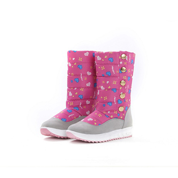 2015 fashion pattern printed height snow boots
