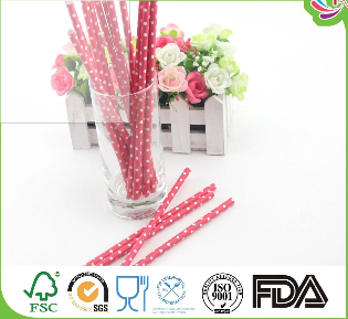 Popular colorful dot paper straw