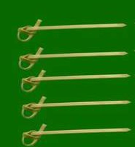 Knotted bamboo sticks