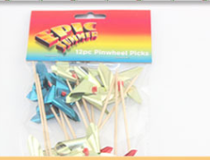 Fancy windmill decoration toothpicks wooden