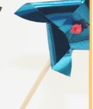 Fancy windmill decoration toothpicks wooden