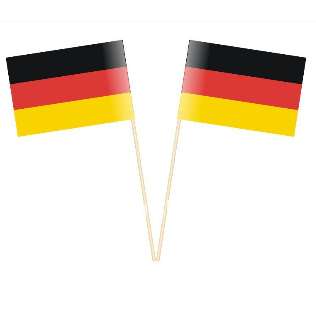 Germany hand waving flag
