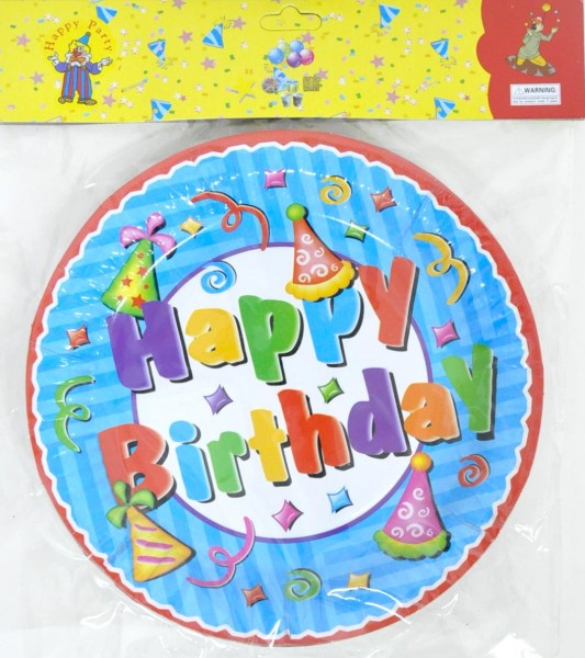 wholesale happy birthday paper plate