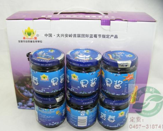 The most popular fruit blueberry jam