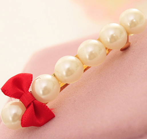 Hot Sale Beautiful Pearls and Bows Shaped Decoration Hairpins for Women Headwear Hair Accessories