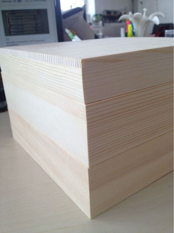 Pine Wood Square Box/Sushi Box