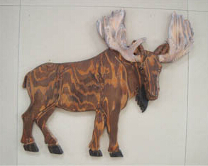 Wooden Wall Decoration cow