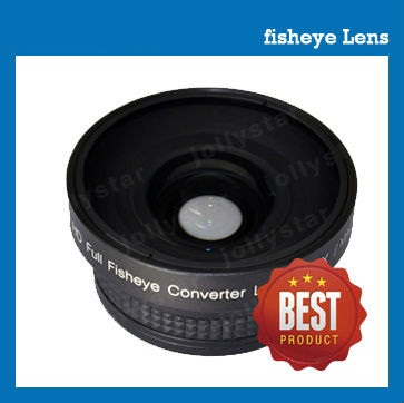 high-definition 37mm 0.43x fisheye lens for camcorder