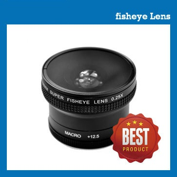58mm 0.25X fisheye lens for camcorder / camera