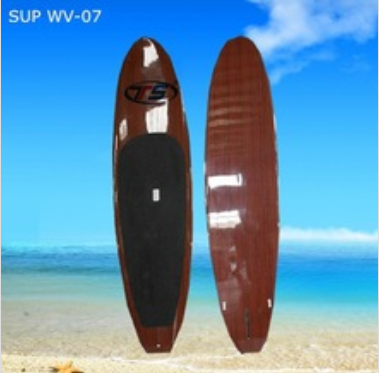 SUP WV-07 EPS foam core wood veneer surfboard stand up paddle boards