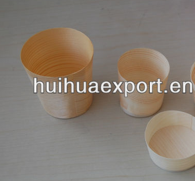 Pine Wood Round Cup