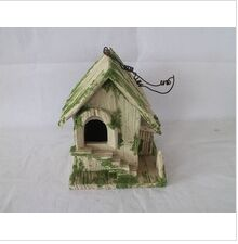 handmade carved wooden bird house light house