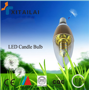 New product 2016 330lm 4w dimmable e14 led candle light