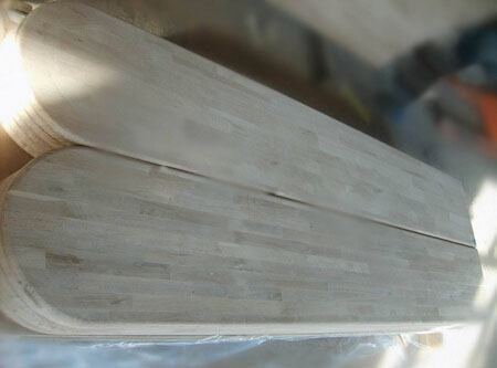 Speical Oak finger jointed panels as worktop