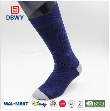 Custom men comfortable cotton dress socks